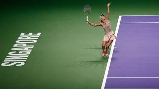 Caroline Wozniacki vs Maria Sharapova | 2014 WTA Finals Highlights