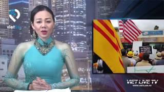 Little Saigon  Hàng trăm người biểu tình trung tâm Thúy Nga và Việt Face