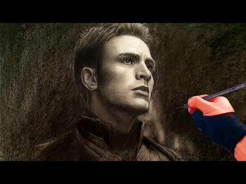 Drawing Captain America / Chris Evans - ThePortraitArt