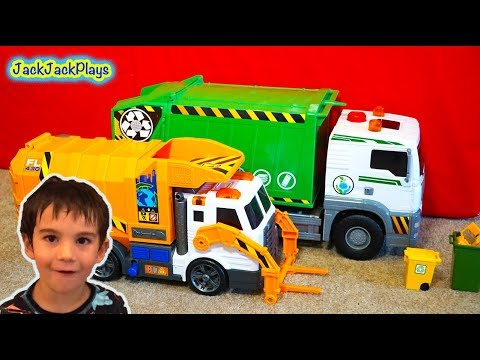 5 Garbage Trucks for Kids Surprise Toys Unboxing - Daddy's Toy Review 1