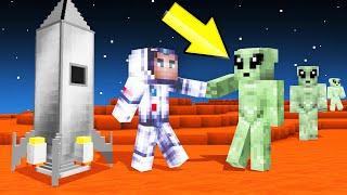 I Found ALIENS In MINECRAFT SPACE! (help)