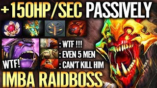 NEW CANCER 150HP/s Most IMBA Raidboss 7.21 [Sand King] EPIC Passive Regen Dota 2