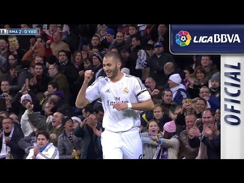 Gol de Benzema (2-0) en el Real Madrid - Real Valladolid - HD