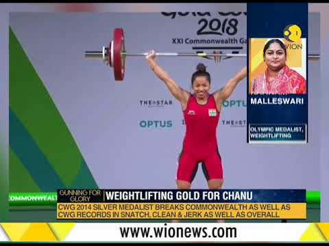 CWG 2018: Mirabai Chanu Wins Gold For India In Weightlifting