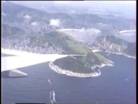 Pan Am 747 over the Beaches of Rio de Janeiro