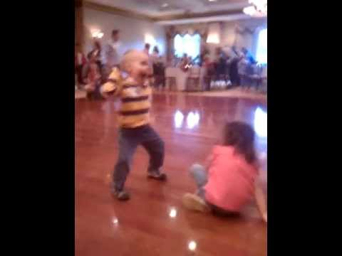 4 year old boy dancing to