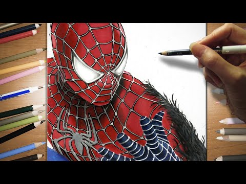 Speed drawing of Spider-Man 3