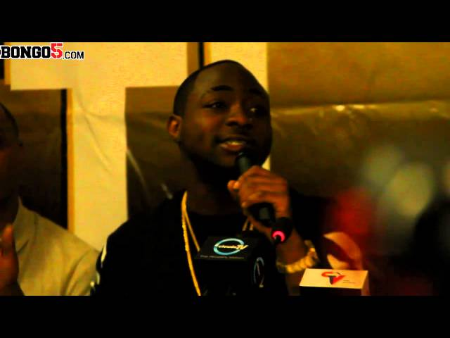 Davido speaks at a press conference in Dar es Salaam