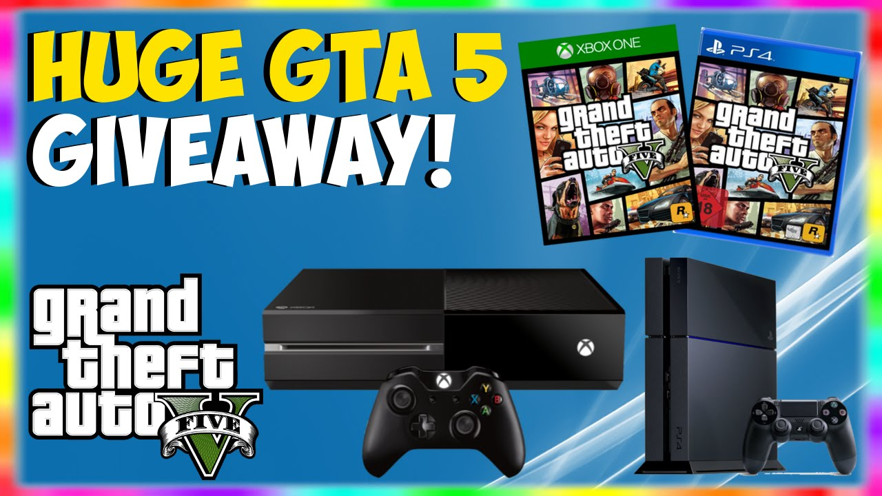 gta 5 huge giveaway free xbox one ps4 giveaway how to win an xbox one ps4 gta 5 giveaway. Black Bedroom Furniture Sets. Home Design Ideas
