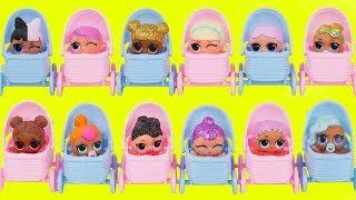 Nuevas Muñecas de bebe LOL Surprise Barbie y Sus Hermanas Rutina de Invierno Jugando Falsas!