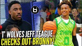 LeBron James Jr. Gives T'WOLVES Jeff Teague A GLIMPSE OF THE FUTURE! Blue Chips vs Amigos!