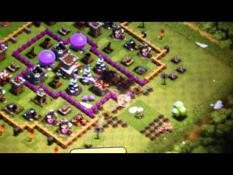 Clash of Clans Town Hall Level 8 Defense strategy (trap)