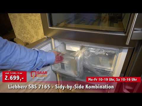 SAAR Küchen - Rausverkauf: Liebherr Kühl- Gefrierkombination  SBS 7165
