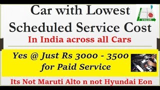 Car with Lowest Maintenance Service Cost in India. Hyundai Santro 2018