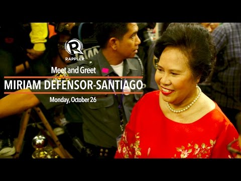 LIVE: Miriam Defensor-Santiago meet and greet with supporters