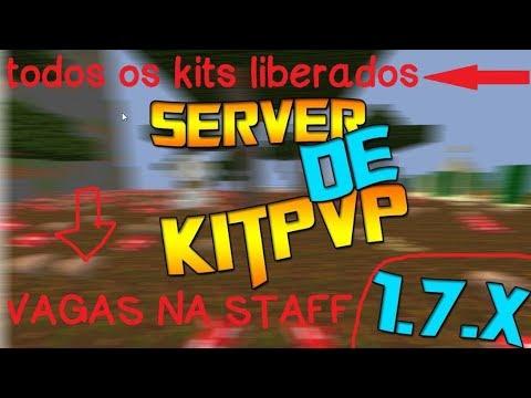 Minecraft: SERVIDOR DE KITPVP NOVO !!! NORDESTER-KITS ~ Syncre (2017)