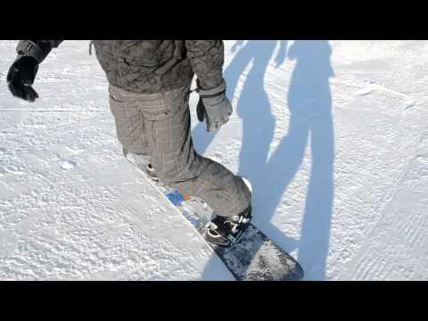 Видео как научиться ездить на сноуборде