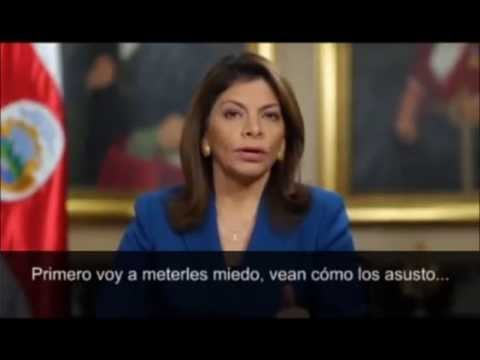 Mensaje de Presidenta Chinchilla sobre Concesin Ruta Uno Nacional - Humor