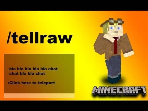 Chat Link Teleport System /tellraw command Minecraft
