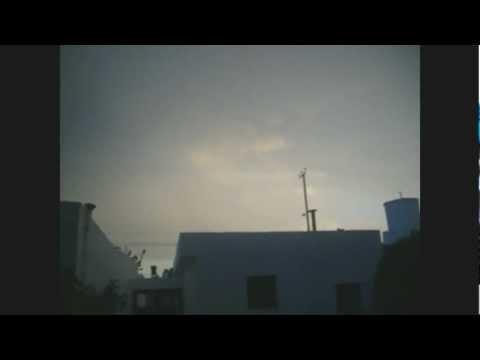 Tormenta en Comodoro 14/01/2013 - Impacto de rayo IMPRESIONANTE!