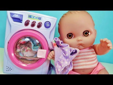 Куклы Пупсики Танцуют и Стирают в Стиральной Машинке СУПЕР ИГРУШКИ Зырики ТВ Toys for Kids