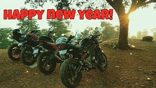 First Ride of 2017 | Kawasaki Er6n Highway Run | Accident | Motovlog