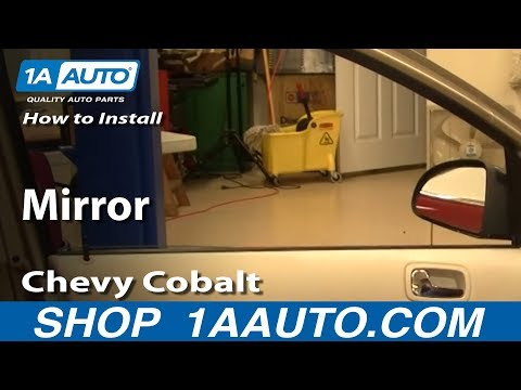How To Install Replace Manual Side Rear View Mirror Chevy Cobalt 05-10 1AAuto.com