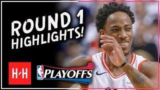DeMar DeRozan Full ROUND 1 Highlights vs Washington Wizards | All GAMES - 2018 Playoffs