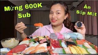 🇯🇵Ăn Sấp Mặt Mâm Sushi, Sashimi Hải Sản,Trứng Cá Tầm Đen Caviar &  Mochi - Mừng 600K Sub #293