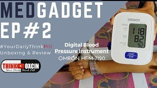 Omron HEM-7120 Automatic Blood Pressure Monitor - UNBOXING REVIEW & DEMO BP Machine By Dr. Rupal