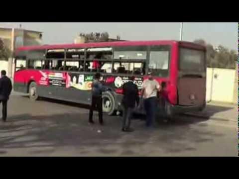 BBC News Egypt bus bomb blast injures five
