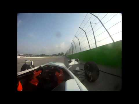 USF2000 Driver Petri Suvanto at the Milwaukee Mile 2011