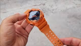 CASIO G-SHOCK GA 100L 4A Casio G Shock Orange Digital Analog Watch GA100L 4A