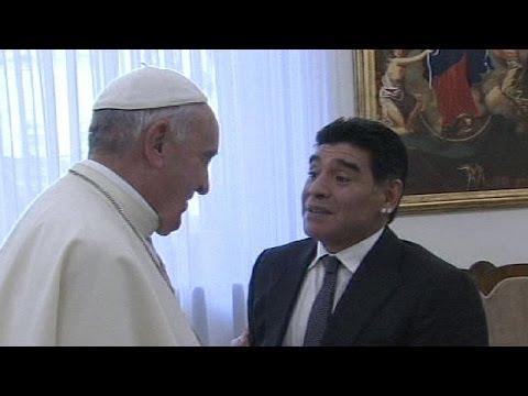 Pope Francis is even bigger than me, says Maradona - no comment