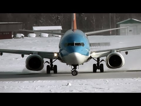 Sunwing Airlines | Boeing 737-800 | Take-off | C-FTZD | Val-d'Or (CYVO) klip izle