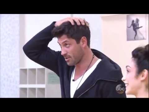 Maksim Chmerkovskiy & Meryl Davis rehersal for Week 5 of DWTS 4 14 14