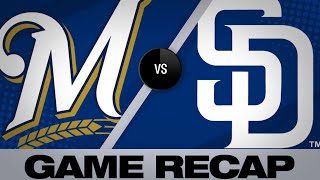 Lucchesi, bullpen team up for shutout win | Brewers-Padres Game Highlights 6/17/19