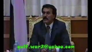 موقف علي صالح تجاه حرب الخليج نادر