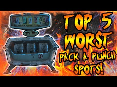 Top 5 WORST Pack a Punch Locations! Call of Duty Zombies Black Ops 3, BO2, BO & WAW Gameplay