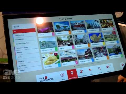 DSE 2015: Cima NanoTech Demos the 42in Pro-Cap Interactive Digital Signage Dispaly