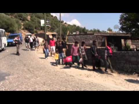 Illegal migrants caught in Turkey's Canakkale