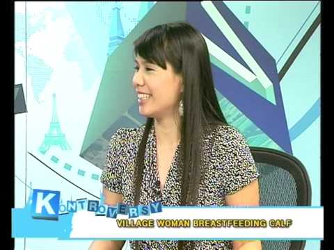 Kontroversy 1 September 2010 Part3: Village Woman Breastfeeding A Calf color Dyed Dog video