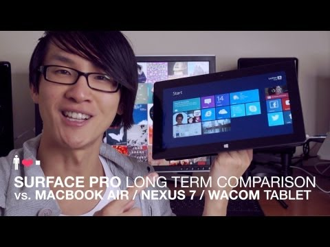 Surface Pro Comparison vs. Macbook Air Laptop, Nexus 7 Tablet, Wacom Tablet