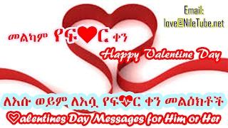 ለእሱ ወይም ለእሷ የፍቅር ቀን መልዕክቶች Valentines Day Messages for Him or Her