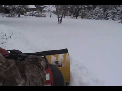 ATV plowing 12 inches of snow in Ohio