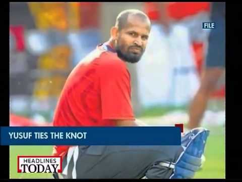 Cricketer Yusuf Pathan ties knot with Mumbai physio Afreen