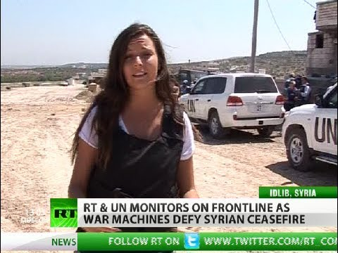 RT crew & UN observers on Syrian 