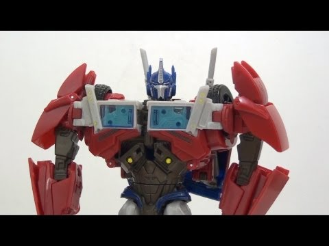 Video Review of the Transformers Prime Voyager Class; Optimus Prime