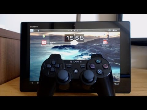 How to connect a wireless PS3 Controller to the Sony Xperia Tablet Z