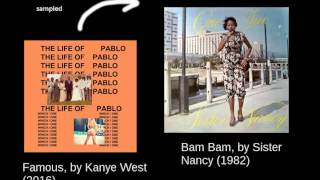 download lagu Kanye West - Famous - Bam Bam Loop 15 gratis